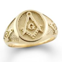NEW Mens Solid 10K gold Masonic Ring Freemason Master ...