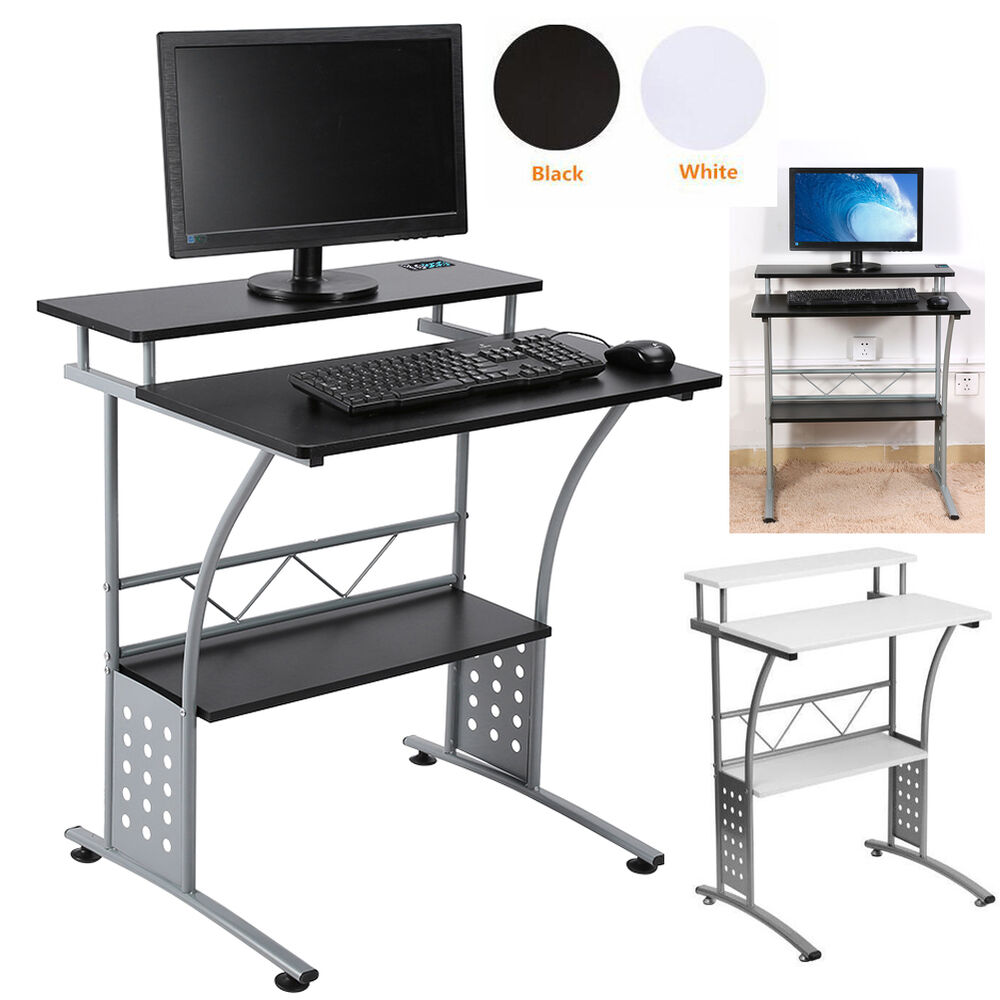 Modern Small Computer Desk Home Office Corner PC Laptop