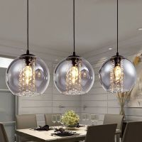 Modern Glass Ball Crystal Ceiling Light Kitchen Bar