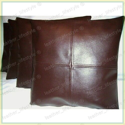 New Genuine Soft Lambskin Pure Leather Pillow Cushion Cover All Sizes PS04 EBay