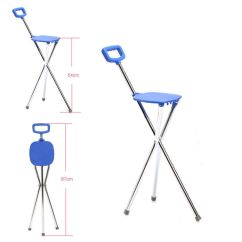 Walking Stick Chair Heavy Duty Fold Up Rocking Folding Lightweight Aluminium Cane With Seat Mobility Tripod Stool | Ebay