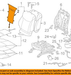 details about toyota oem 12 15 prius plug in driver seat seat back heater 8753047030 [ 1000 x 798 Pixel ]
