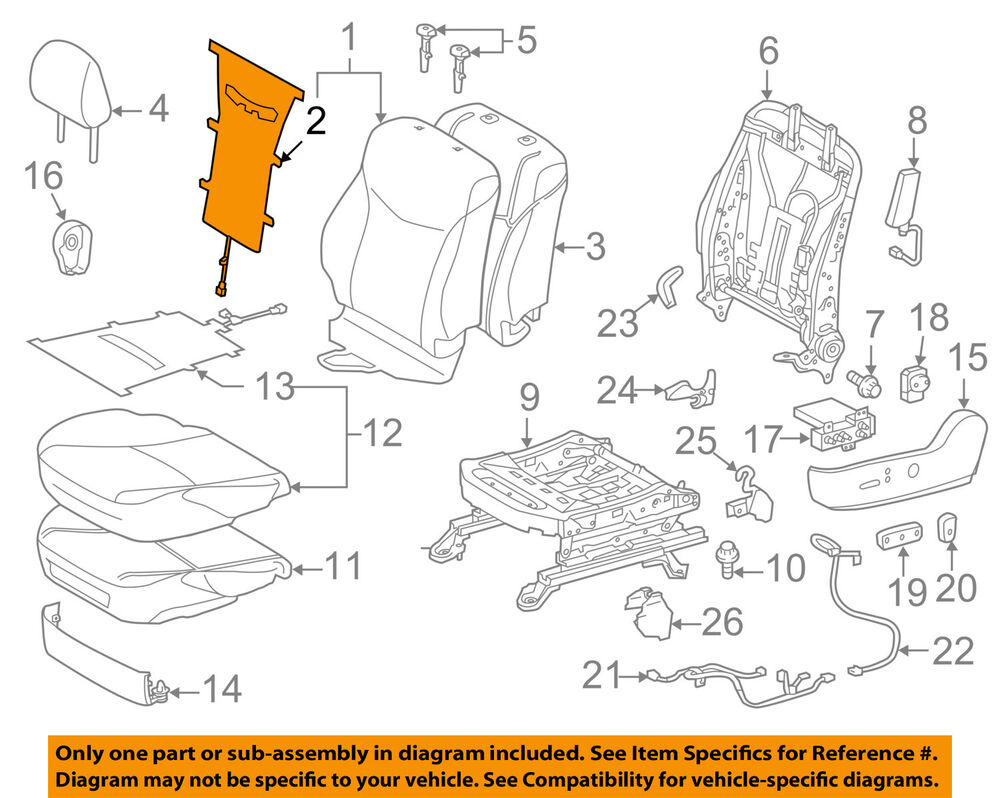 medium resolution of details about toyota oem 12 15 prius plug in driver seat seat back heater 8753047030