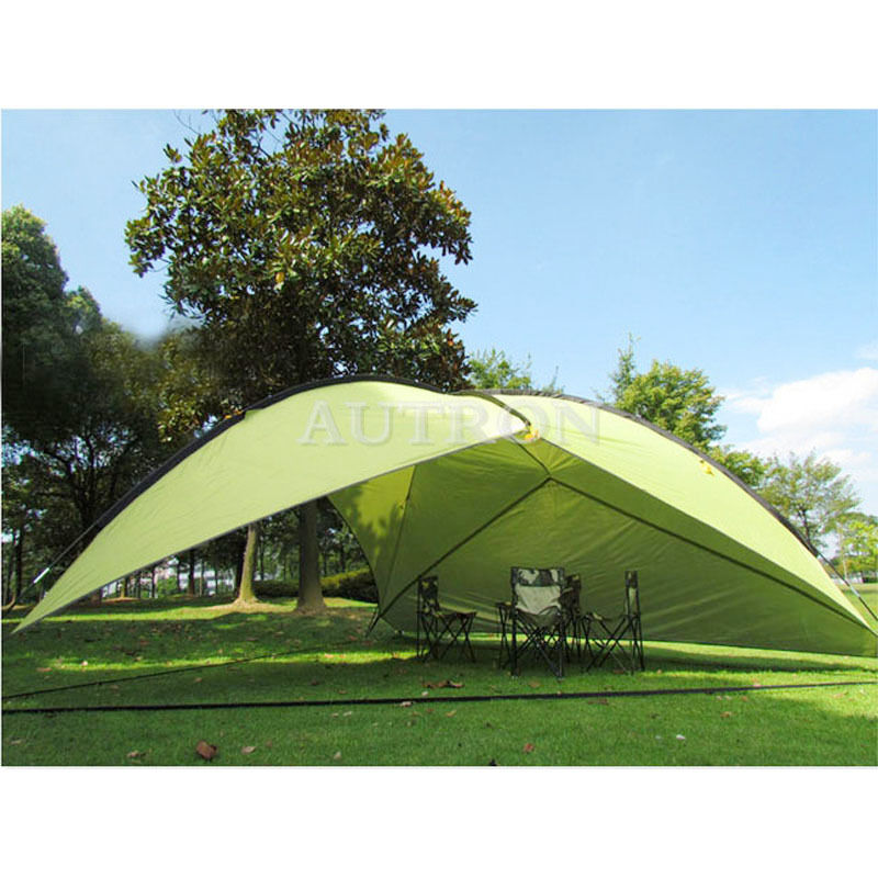 Green Triangle Shade Shelter Beach Canopy Camping Hiking