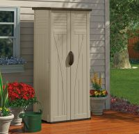 Outdoor Storage Cabinet Garden Shed Tools Patio Vertical ...