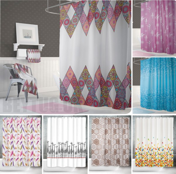 Quality Fabric Extra Long Wide Narrow Width Funky Shower Curtains