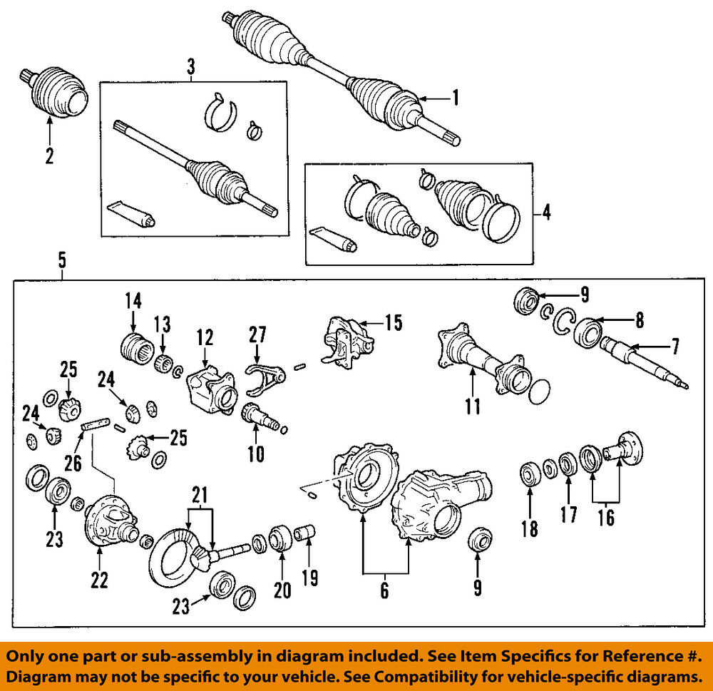 hight resolution of toyota front axle diagram we wiring diagramtoyota oem 00 06 tundra front cv axle joint boot