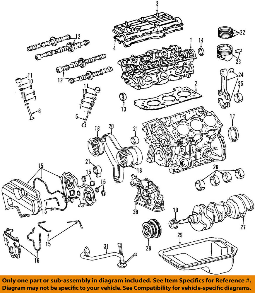 medium resolution of details about toyota oem 95 04 tacoma engine valve cover 1120162040