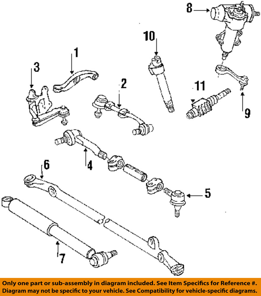 hight resolution of details about toyota oem 86 95 pickup steering tie rod assembly 4546039505