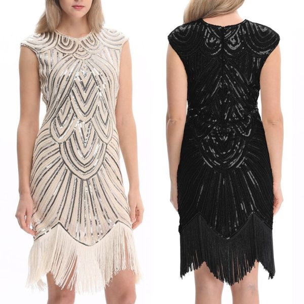 Us3 20s Dress Great Gatsby Flapper Party Sequin Tassel