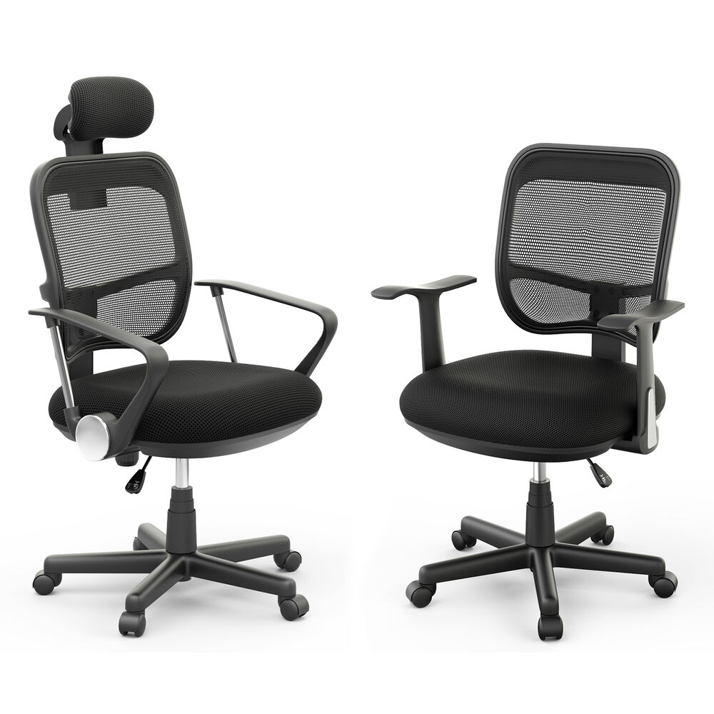 Executive Office Computer Desk Chair Mesh Seat Midback