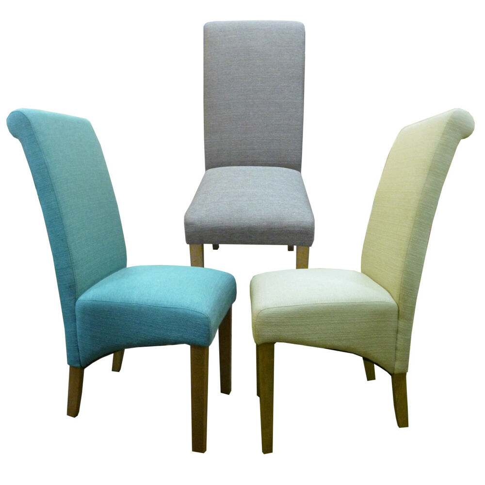 Aqua Dining Chairs Dining Chairs In Aqua Fabric Ebay