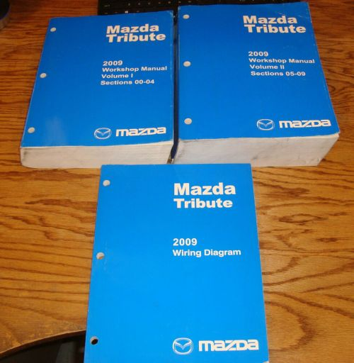 small resolution of details about original 2009 mazda tribute shop service manual vol 1 2 wiring diagram set