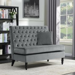 Reversible Sectional Sofas With Chaise Savvy Sofa Upholstered Bench Settee Tufted Lounge Couch ...