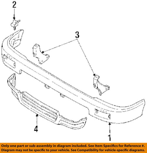 small resolution of toyota oem 89 91 pickup front bumper mount bracket right 5201189115 ebay
