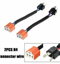 details about 2x 9003 h4 wire harness adpters socket plug cable headlight connector extension [ 1000 x 1000 Pixel ]