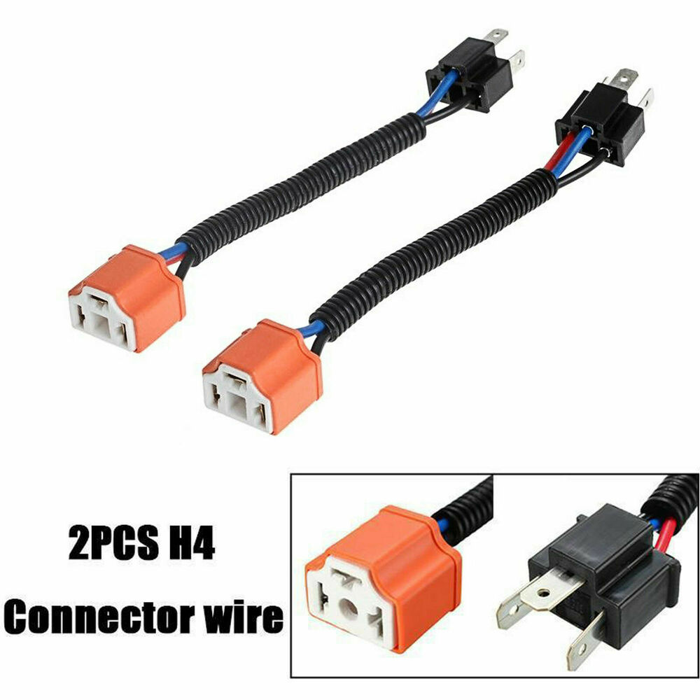 medium resolution of details about 2x 9003 h4 wire harness adpters socket plug cable headlight connector extension