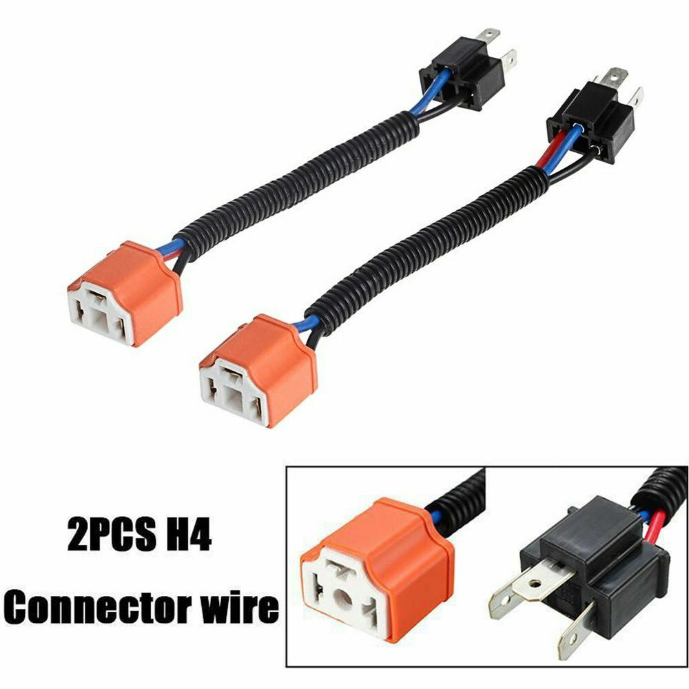 hight resolution of details about 2x 9003 h4 wire harness adpters socket plug cable headlight connector extension