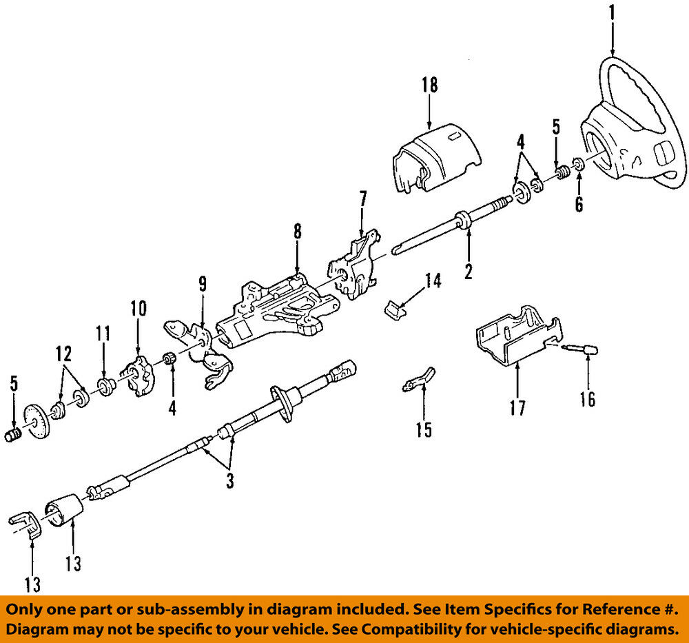medium resolution of details about ford oem steering column bearing support f5tz3d681a