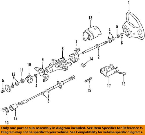 small resolution of details about ford oem steering column bearing support f5tz3d681a