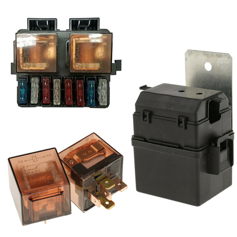 hight resolution of details about car auto boat truck circuit 12v 2 way relay fuse box holder kit with 8 blade