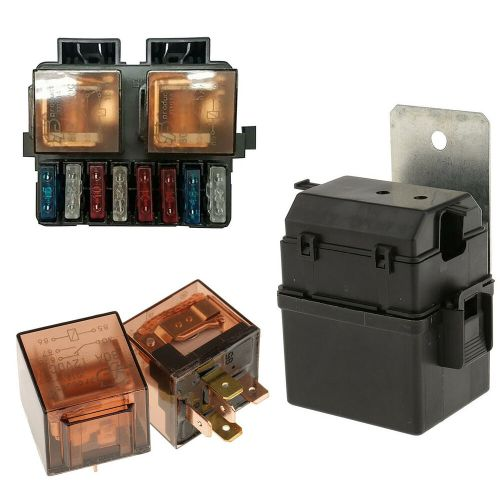 small resolution of details about car auto boat truck circuit 12v 2 way relay fuse box holder kit with 8 blade