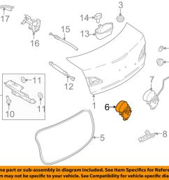 details about mazda oem 10 13 3 trunk lock or actuator latch release bgv556820 [ 1000 x 798 Pixel ]