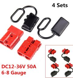 details about 4pcs 50a 6 8 gauge battery quick connect disconnect winch wire harness plug kit [ 1000 x 1000 Pixel ]