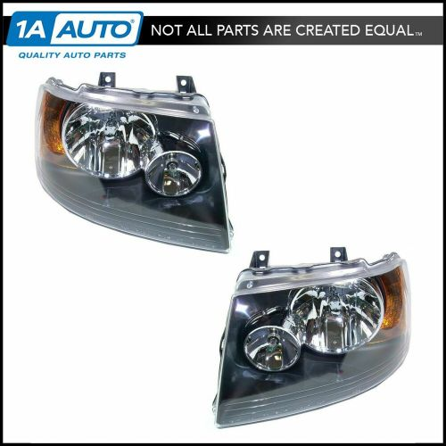 small resolution of details about headlights headlamps w black bezel left right pair set for 03 06 expedition