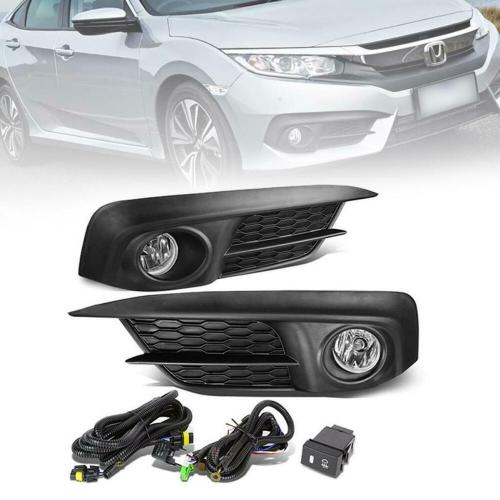 small resolution of details about fit 2016 honda civic 1 set fog light with switch wire harness bulbs