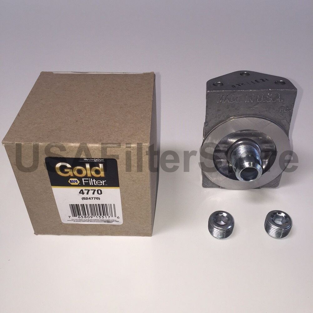 medium resolution of genuine napa gold 4770 fuel filter remote mounting base wix 24770