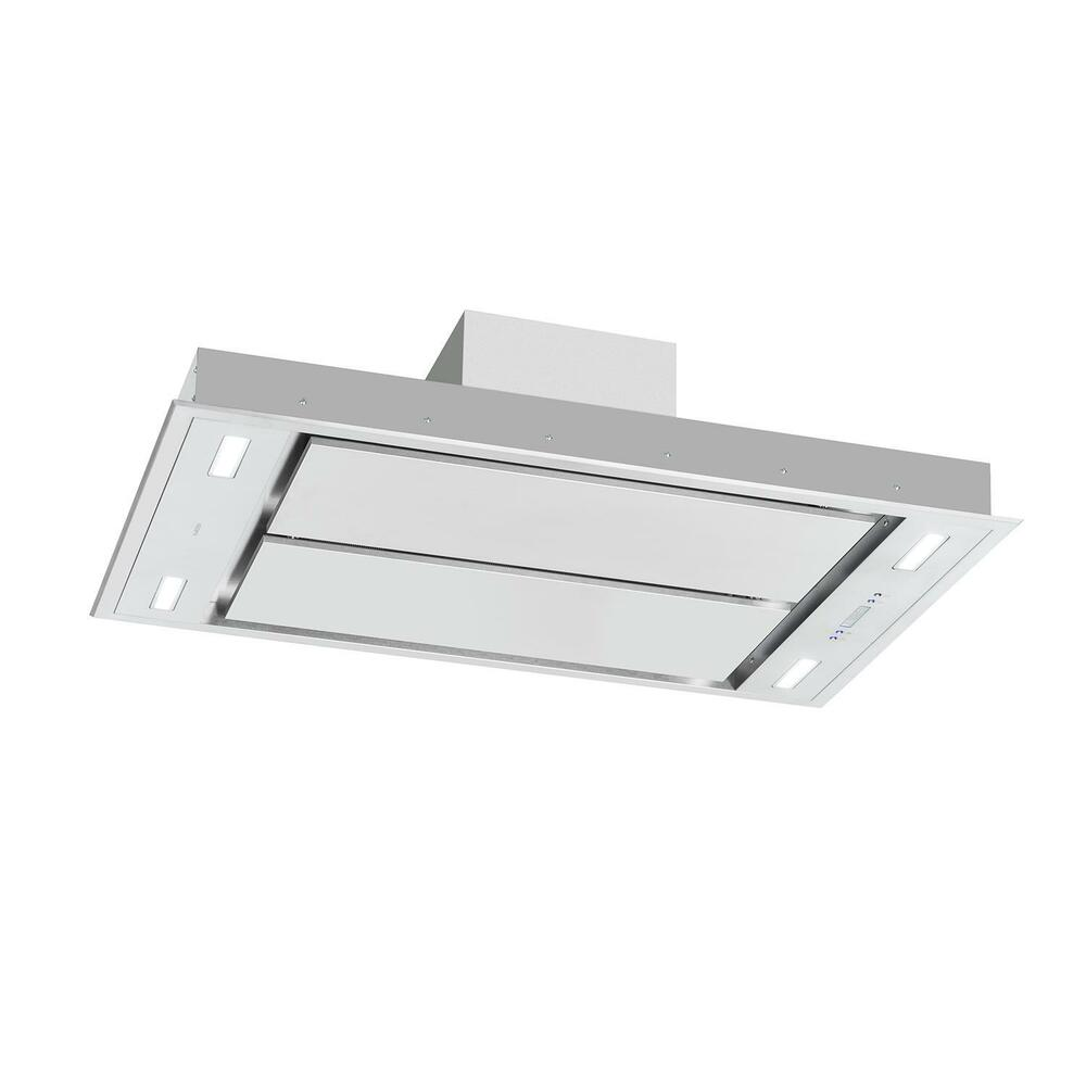 extractor fan kitchen decorating themes cooker hood chimney ceiling mounted stainless details about steel 220w