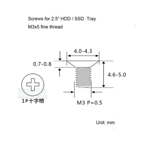 small resolution of details about 4x screw for 2 5 hhd ssd hard drive hot swap caddy tray bracke phillips head