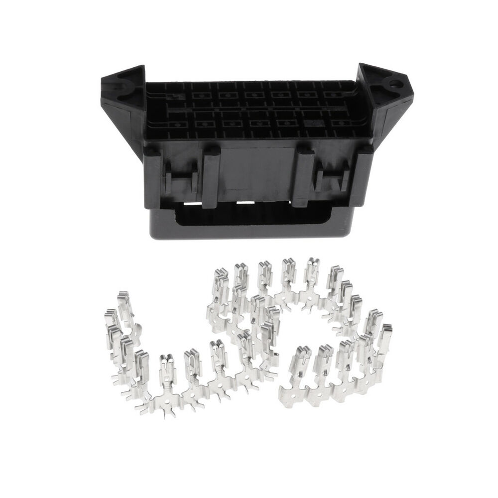 hight resolution of details about car part motorcycle 14 way medium relay blade fuse box holder terminals
