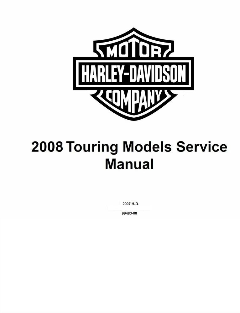 2008 Harley Davidson Touring Models Service Shop Manual