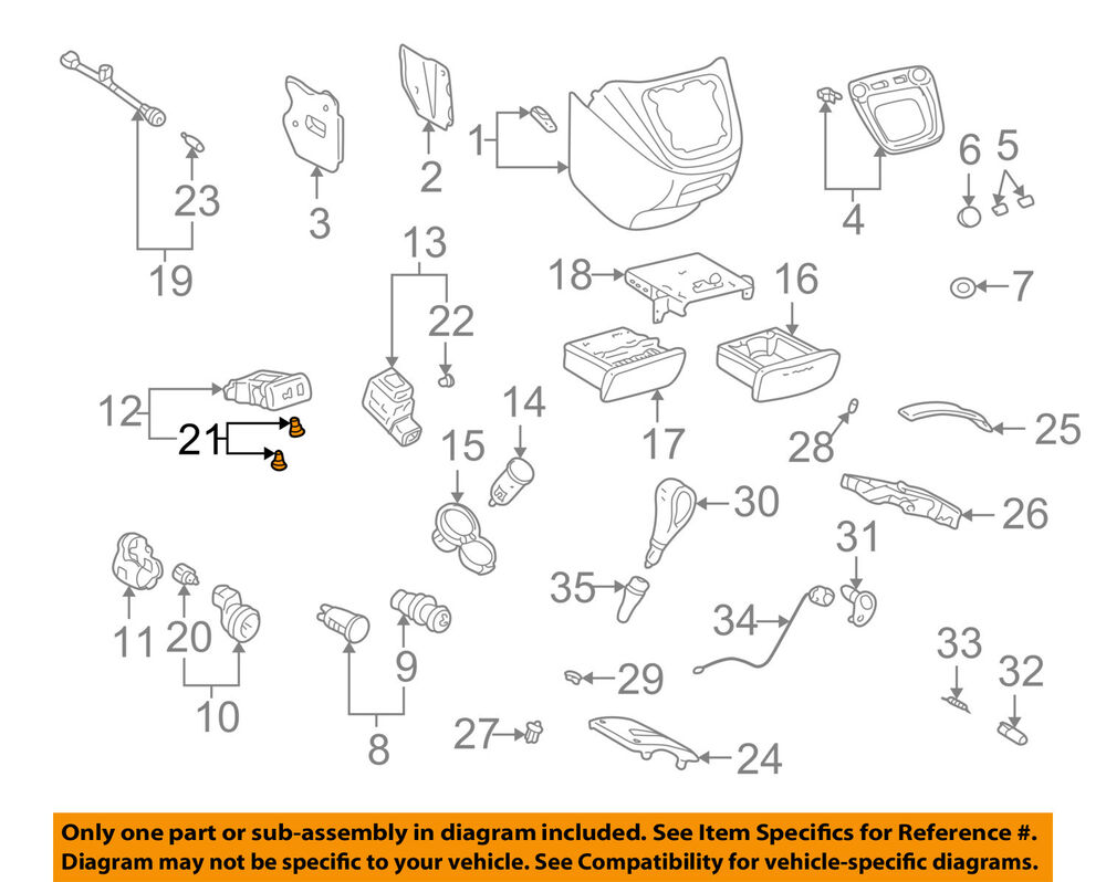 medium resolution of details about toyota oem center console bulb 9001001061
