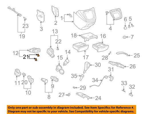 small resolution of details about toyota oem center console bulb 9001001061