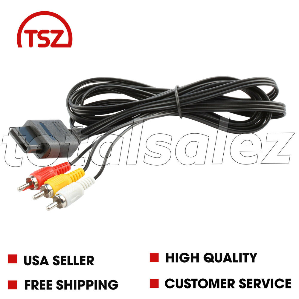 medium resolution of details about for nintendo n64 n 64 video game system rca av tv audio stereo 6 cable cord