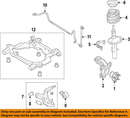 small resolution of details about ford oem 16 18 explorer front suspension strut fb5z18124a