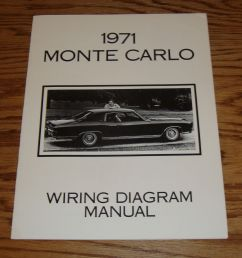 details about 1971 chevrolet monte carlo wiring diagram manual 71 chevy [ 970 x 1000 Pixel ]