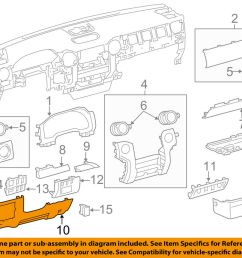 details about toyota oem 14 15 tundra instrument panel dash lower panel 550460c090c0 [ 1000 x 798 Pixel ]