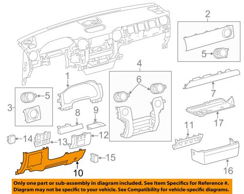 small resolution of details about toyota oem 14 15 tundra instrument panel dash lower panel 550460c090c0