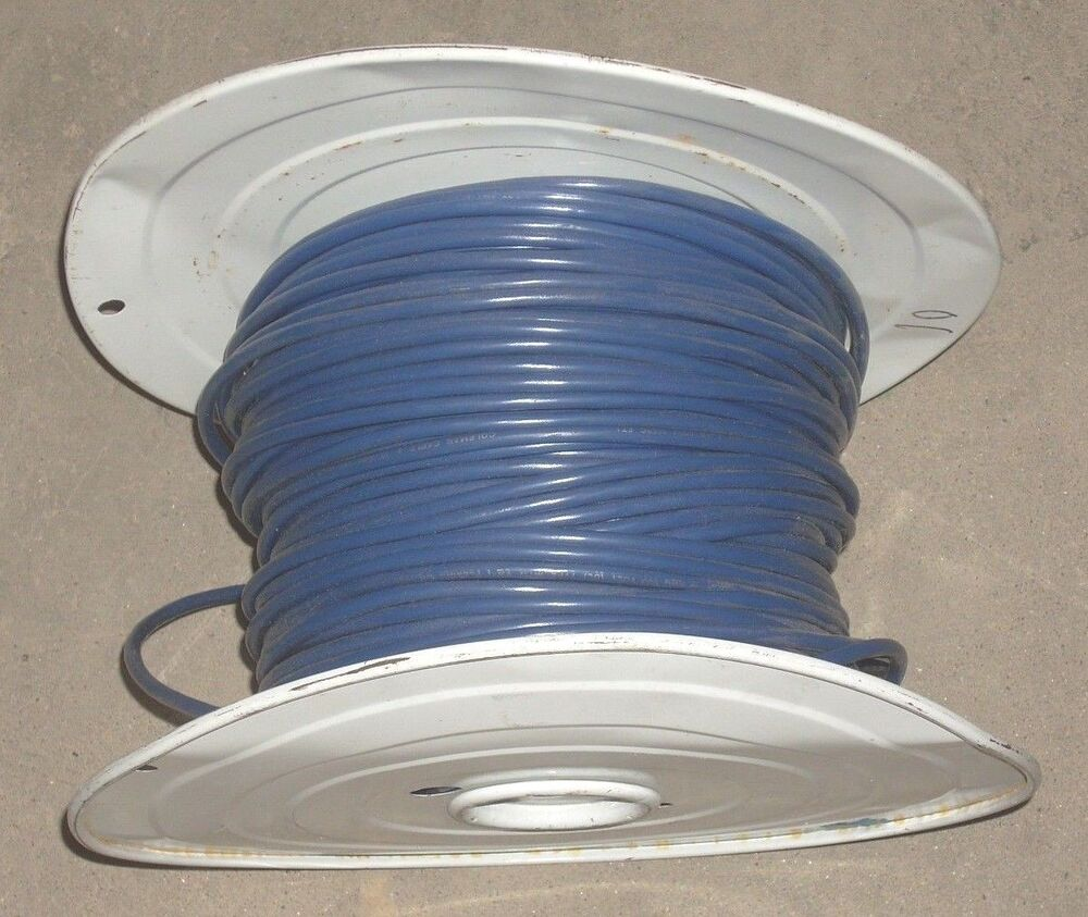medium resolution of details about 10 awg blue machine tool wire white roll copper electrical wire 16 74 lbs