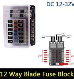 details about universal car 12 way circuit standard atc ato led fuse box block holder 12v 24v [ 1000 x 1000 Pixel ]
