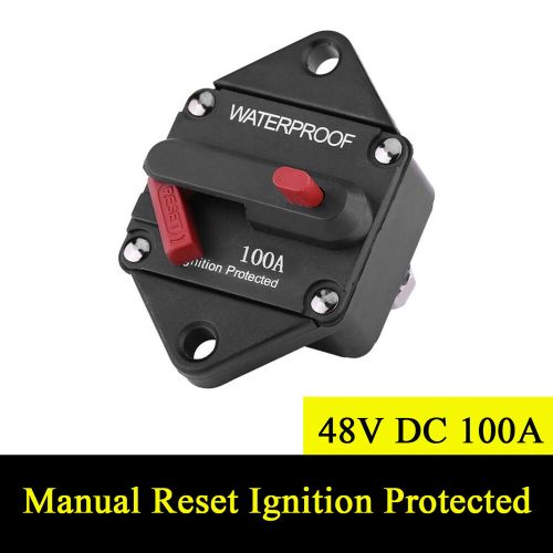 small resolution of details about 48v dc 100a waterproof circuit breaker manual reset ignition protected fuse box