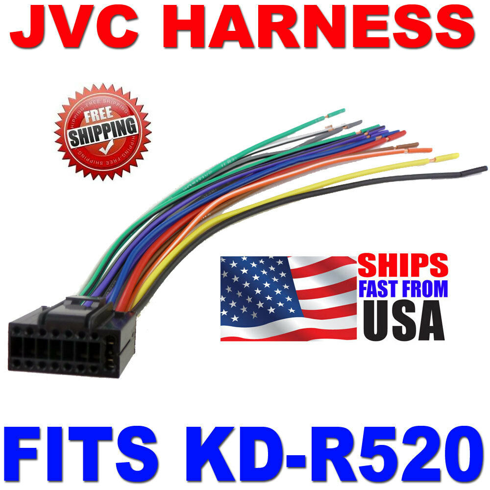 medium resolution of details about 2010 jvc wire harness 16 pin harness kd r520 kdr520