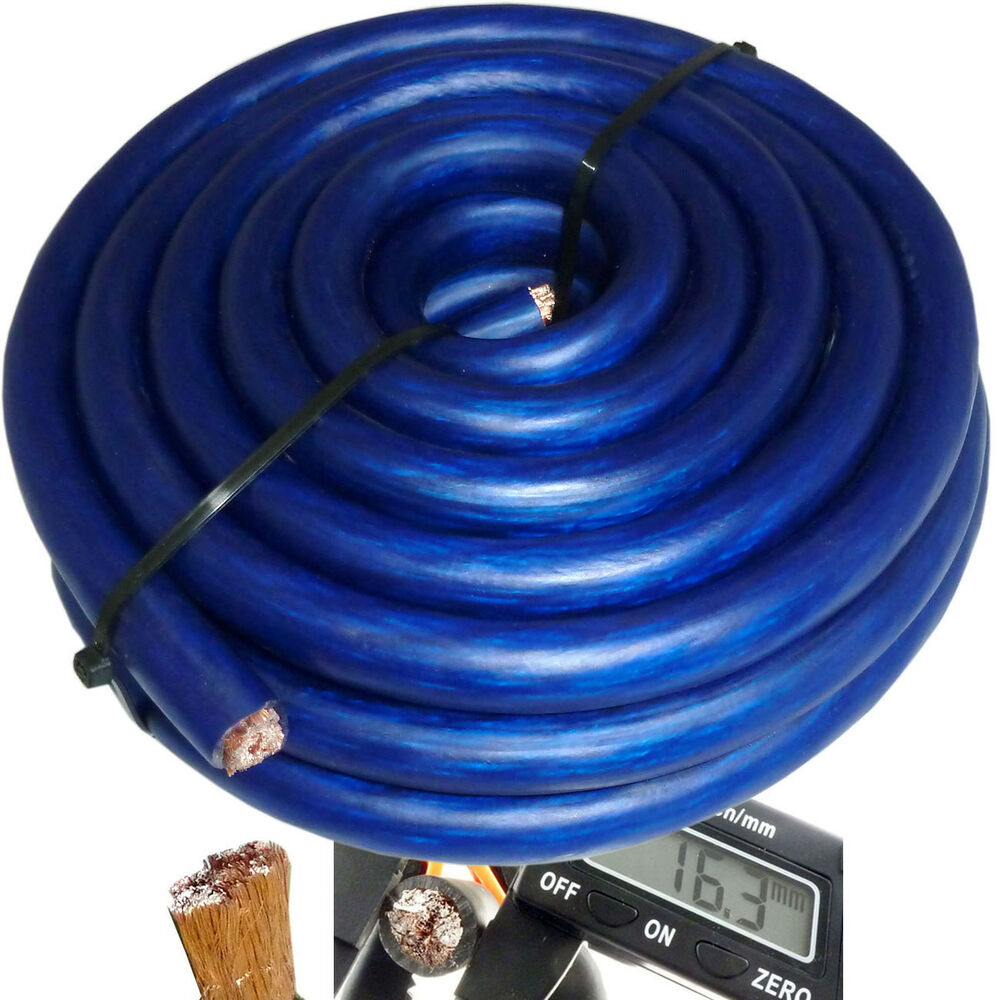 hight resolution of details about 20 ft 0 gauge blue car audio power ground wire cable 20 feet zero awg usa ship