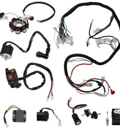details about electrics wiring harness set for atv quad 150 200 250 300cc kawasaki stator cdi [ 1000 x 1000 Pixel ]