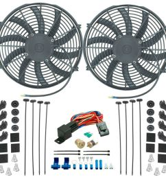 details about chevy dual 14 inch electric fan s radiator cooling 1 4 thermostat switch kit [ 1000 x 1000 Pixel ]