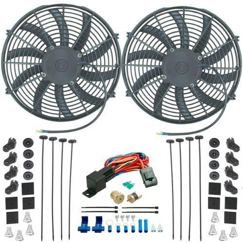 small resolution of details about chevy dual 14 inch electric fan s radiator cooling 1 4 thermostat switch kit